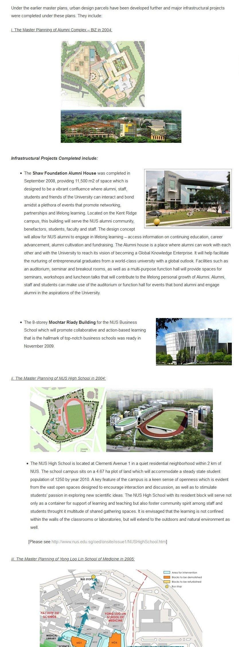 NUS Campus Master Plan 6
