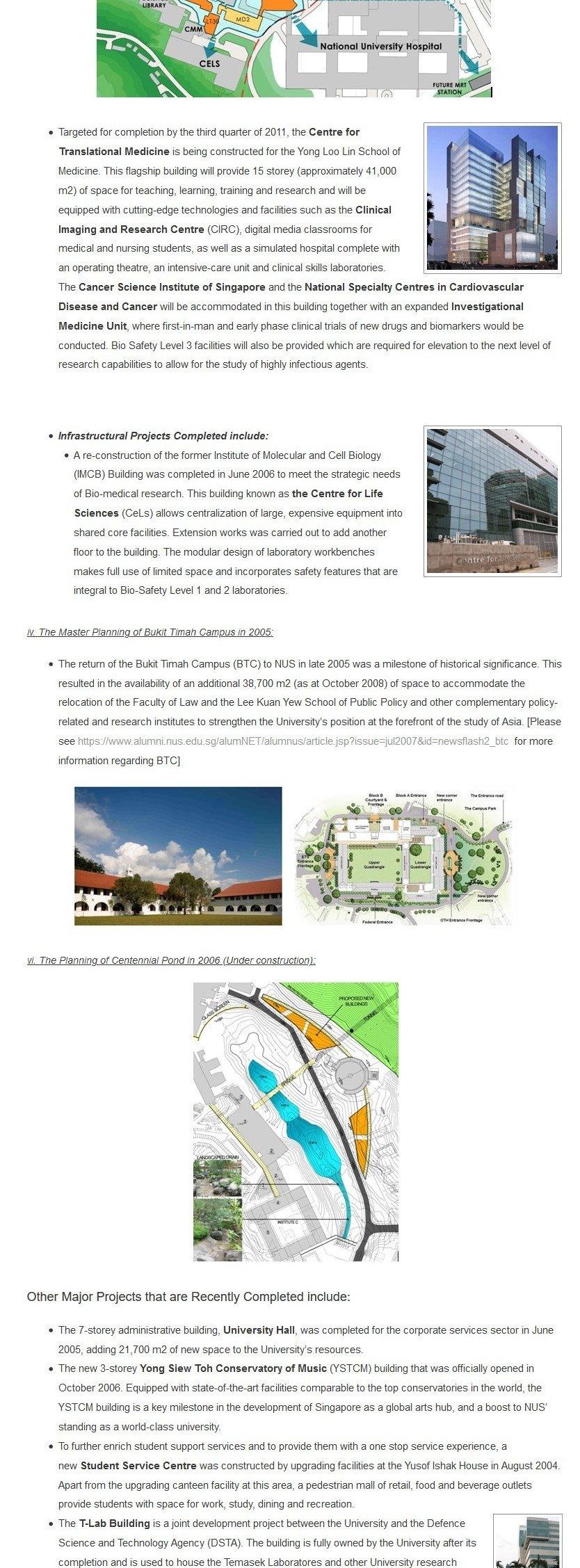 NUS Campus Master Plan 7